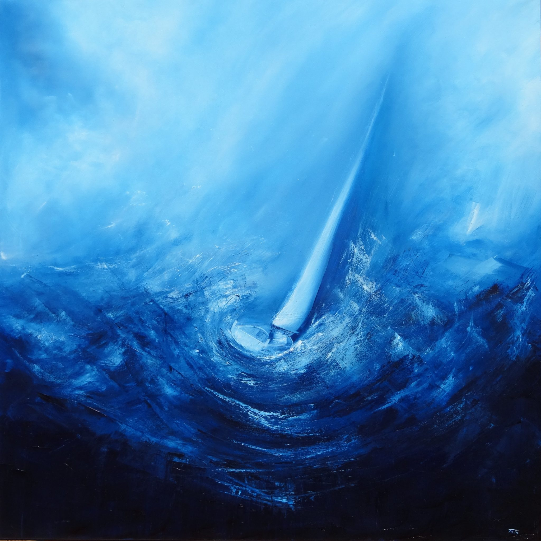 traversata-oil-on-canvas-80x80cm